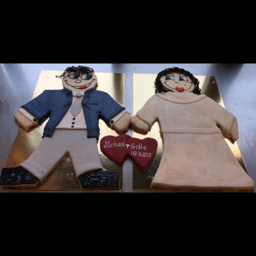 Prøv noget nyt figur marcipan bryllupspar kagemand