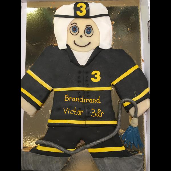 Kagemands brandmand med marcipan overtræk