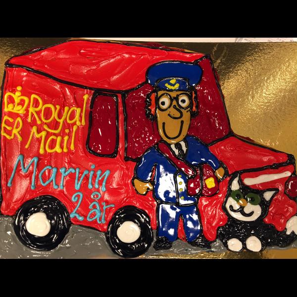 Postmand Per kage med glasur