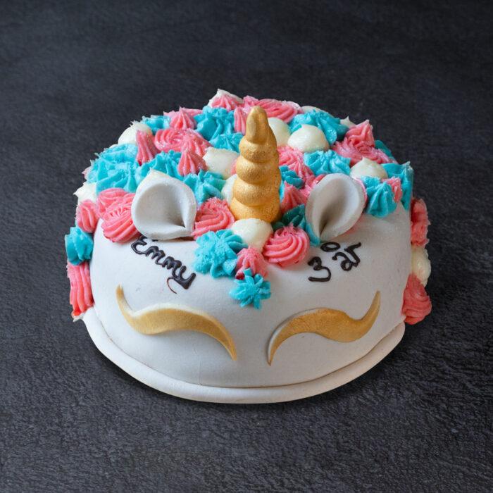 enhjørning kage